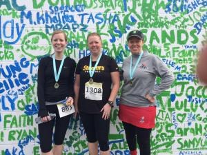 Post-race with Pam and Sandy.