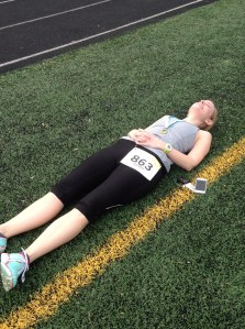 Do yourself and run to prepare for your races...you don't want to look like this girl...