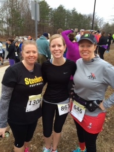 with Pam and Sandy before the race...
